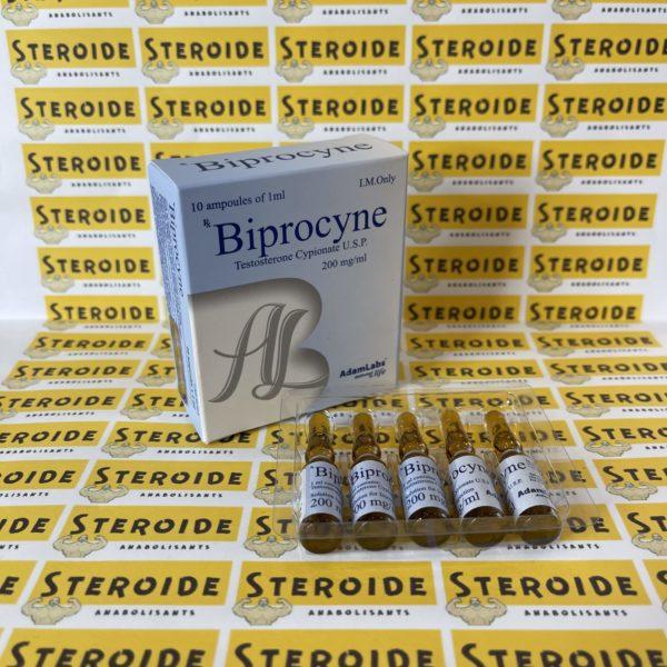 Emballage Biprocine (Testosterone Cypionate U.S.P.) 200 mg AdamLabs