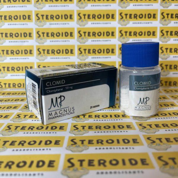 Emballage Clomid 50 mg Magnus Pharmaceuticals